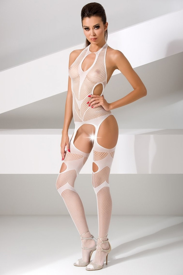Bodystocking blanc BS053