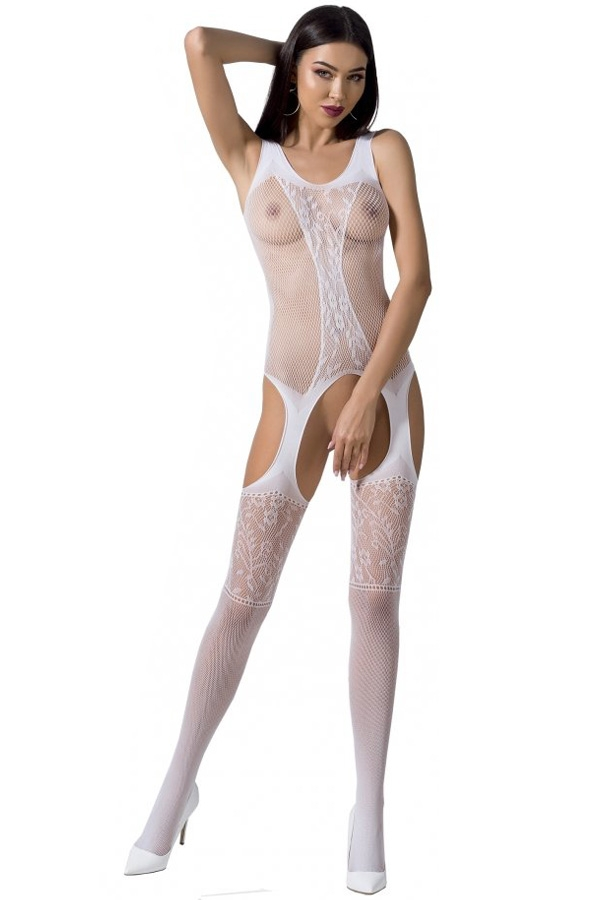 Bodystocking blanc BS072