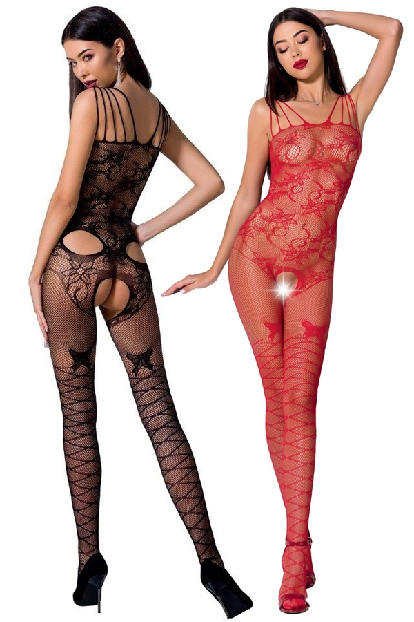 Bodystocking noir ou rouge BS076