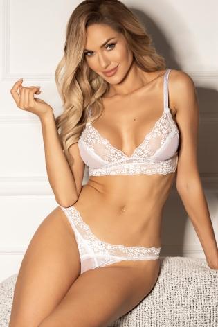 Bikini vert à motifs palmes