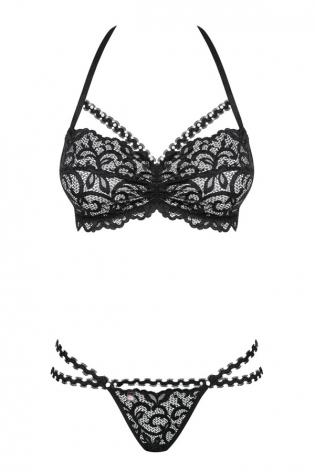Robe noir sexy bi-matière