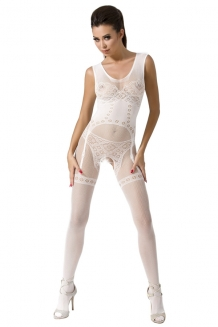 Bodystocking blanc BS052