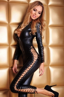 Catsuit wetlook Clubwear
