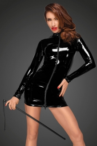 Robe pvc noir handmade F187
