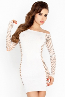 Robe resille sexy blanche