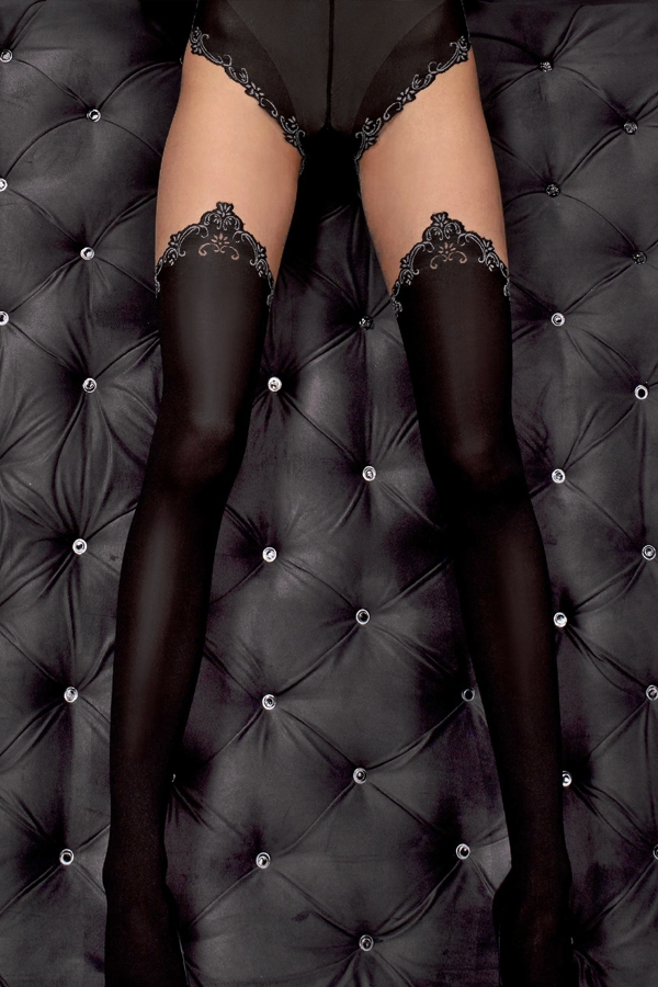 Collants sexy noir et nude
