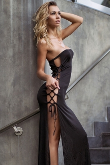 Robe sexy ficelle