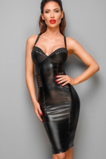 Robe wetlook sexy clubwear