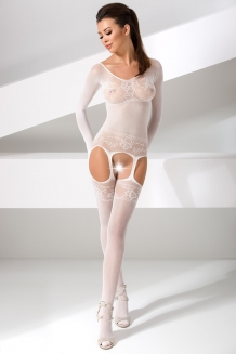 Bodystocking blanc BS055