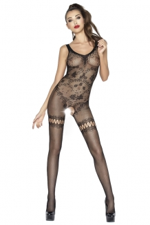 Bodystocking ouvert à l'entre-jambe